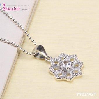 Bộ dây chuyền liền mặt nữ trang sức bạc Ý S925 Bạc Xinh YYDZ142