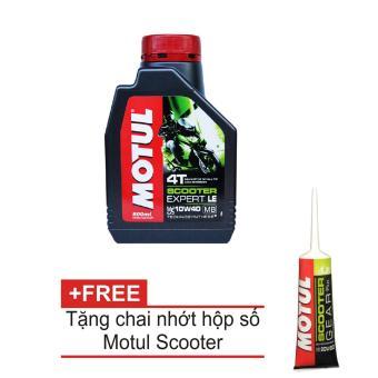 Nhớt MOTUL xe tay ga Scooter Expert LE 10W40 800ml tặng nhớt hộp số Motul Gear Oil 80W90