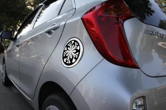 Ốp nắp bình xăng xe Kia Morning đời 2011 ( Chrome)