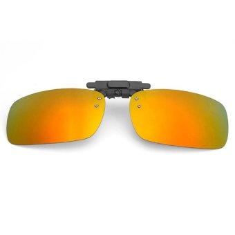 Mua Tròng kính mát kẹp phân cực cho người cận QSShop RE01VG (vàng tráng gương) giá tốt nhất