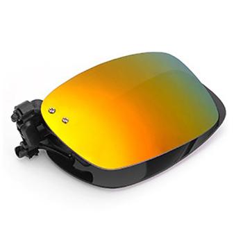 Tròng kính mát kẹp phân cực cho người cận QSShop RE01VG (vàng tráng gương)