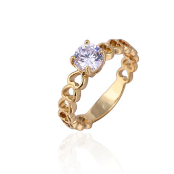 18K Gold Plated Diamond Ring (Intl)