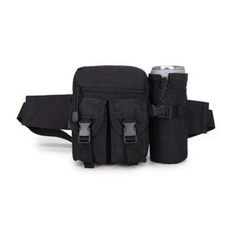 Túi đeo hông, đeo bụng thể thao có ngăn chứa nước (đen)