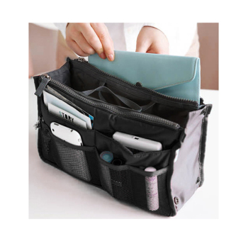 Cyber New Women Travel Insert Handbag Organiser Purse Large liner Organizer Tidy Bag Pouch(Black) - Intl
