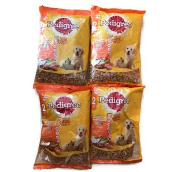 Bộ 4 Gói Thức Ăn Cho Chó Con Pedigree Vị Gà, Trứng Và Sữa Dạng Túi 4x400g