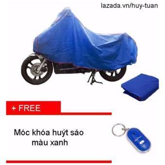 Bạt che xe máy ( màu xanh ) + free móc khóa huýt sáo thông minh ( xanh )