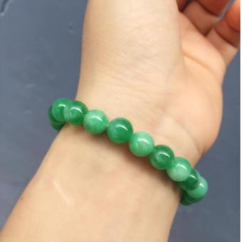 Vòng tay đá cẩm thạch xanh lá 8ly