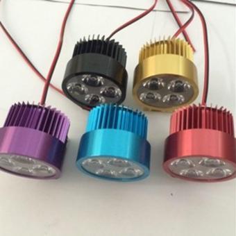 Đèn pha trợ sáng 4 LED dành cho xe mô tô, xe điện (so so nice - màu đen)