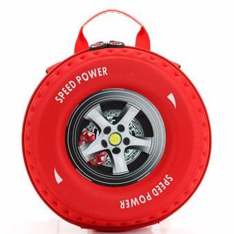 Balo bánh xe màu đỏ cho bé trai