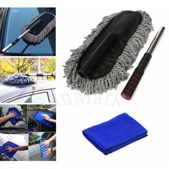 Bộ 1 chổi sợi dầu cỡ lớn và khăn lau xe chuyên dụng cho ô tô SV476