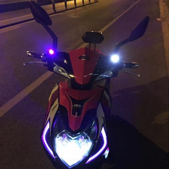 Đèn Led Gắn Chân Gương Xe Máy 12V (màu đỏ)