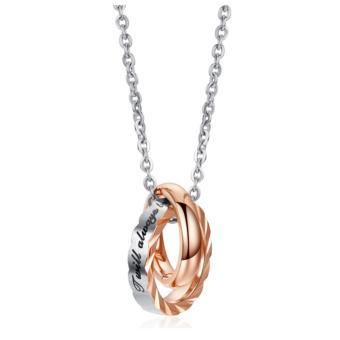 Dây chuyền nam, nữ chiếc nhẫn khắc chữ ý nghĩa