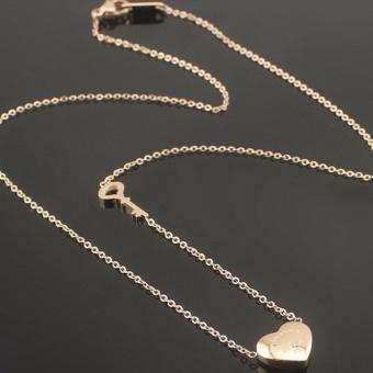 Dây chuyền titan trái tim chìa khóa tình yêu TN92