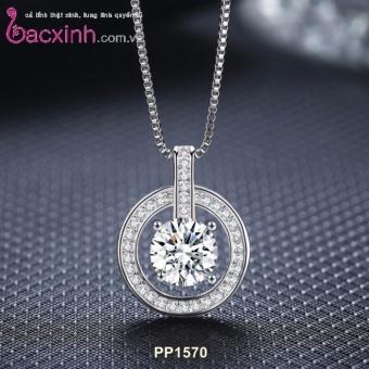 Mặt dây chuyền nữ trang sức bạc Ý S925 Bạc Xinh - Mặt trăng đẹp PP1570