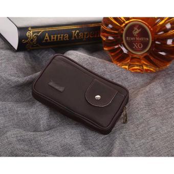 Túi đeo điện thoại dây kéo nút bấm(Café)