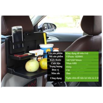 Khay đựng đồ treo ghế sau xe ô tô VIPauto -KĐĐ01- Đen