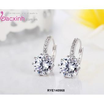 Bông tai nữ trang sức bạc Ý S925 Bạc Xinh - Hạt ngọc RYE140968