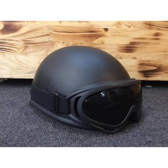 Mũ bảo hiểm tình nhân nửa đầu (Đen)