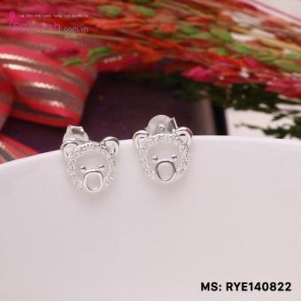Bông tai nữ trang sức bạc S925 Italia Bạc Xinh RYE140822
