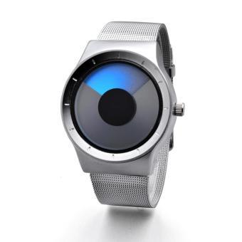 Đồng hồ nam dây thép không rỉ IDMUASAM 9711 (Mặt xanh dương)