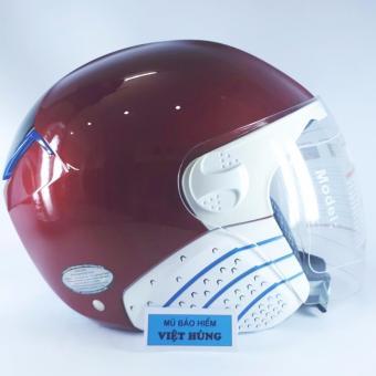 Mũ bảo hiểm cao cấp AMORO 239A (đỏ line đen)
