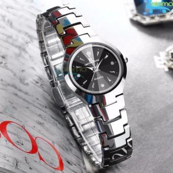 Đồng hồ nữ cao cấp chống nước đường kính 25mm R-ontheedge dây kim loại (bạc)