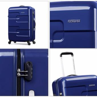 Vali American Tourister Puzzle Cube Spinner 78cm MIDNIGHT BLUE