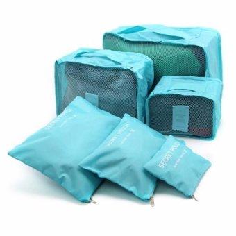 Bộ 6 Túi Đựng Đồ Du Lịch Chống Thấm Bag in Bag (Xanh dương)