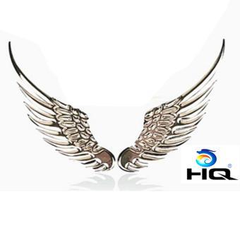 Đôi Cánh Dán Trang Trí Logo Xe Hơi HQ 2TI74-1 (trắng)