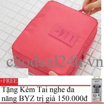 Túi du lịch đựng đồ cá nhân Monopoly (Hồng)+Tặng Tai nghe BYZ S389 (Đen)