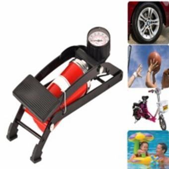 Bơm hơi đạp chân đa năng mini loại 1 piston giành cho ô tô, xe máy (Đỏ)