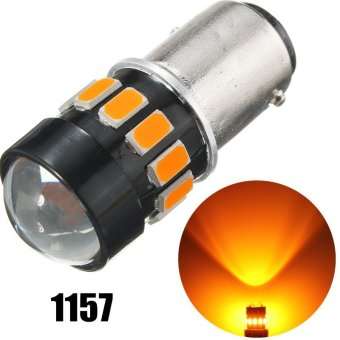 2Pcs 1157 Chip LED Amber Yellow Turn Signal Light Bulbsn - intl