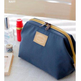 Túi đựng đồ mỹ phẩm không thấm nước kiểu Hàn Quốc (xanh navy)