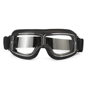 Helmet Goggles Windproof Protective Glasses Eyewear For Motorcycle Motorbike Clear Lens - intl