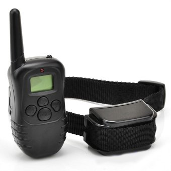 Electric Shock Dog Training Remote Control Vibra Collar S LCD 300M- - intl