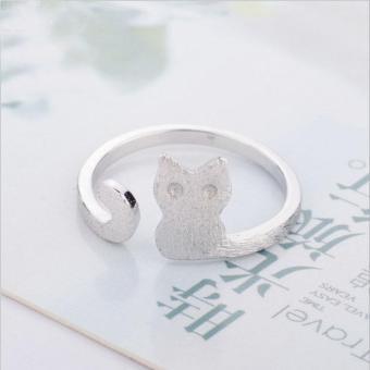 Nhẫn nữ hình mèo Simple Style phong cách Châu Âu (NN01)