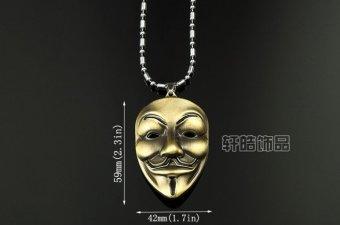 Vòng cổ nam hip hop hình mặt nạ Anonymous T72 (Đồng)