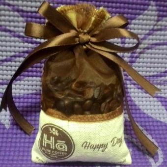 Túi thơm hạt cà phê nguyên chất khử mùi Ô tô 70g HC02