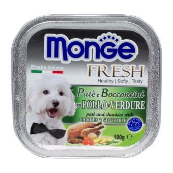 Pate bổ sung dưỡng chất cho chó từ gà & rau Monge Chicken Vegetable