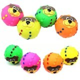 BolehDeals Cartoon Dog Vinyl Giggle Ball Tough Treat Training Chewing Toy Squeaky Ball - Intl
