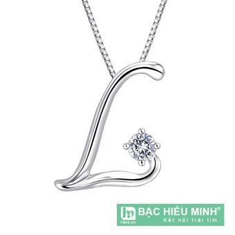 Dây chuyền bạc ta theo tên BẠC HIỂU MINH T162 mặt chữ L