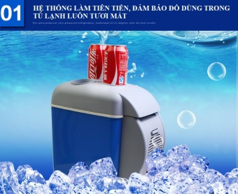 Tủ lạnh mini cho xe hơi 7.5L Loại 1 (Xanh)