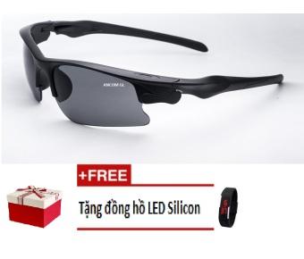 Kính mắt ngày và đêm ANCOM GL UV1552 (Vàng) + Tặng đồng hồ Led Silicon màu sắc ngẫu nhiên