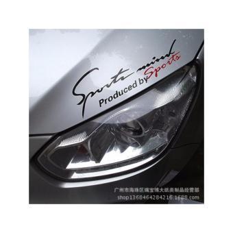 Đề can SPORT ánh sáng lông mày xe chát liệu phản quang màu đỏ (11)