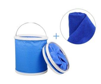 Bộ thùng múc nước thông minh đa năng và khăn vải lau ô tô 70x30cm