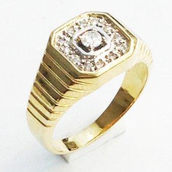 Nhẫn nam vàng 14k đá kim cương nhân tạo