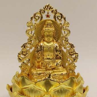 Tượng Phật Quan Âm Rồng Vàng mạ vàng cao cấp phong thủy bình an F93 (C) (Vàng kim)