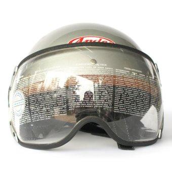 Mũ bảo hiểm ANDES Haly 180B trơn (Bạc )