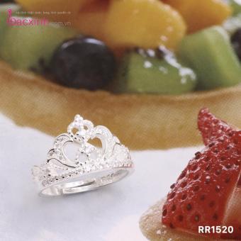 Nhẫn nữ trang sức bạc Ý S925 Bạc Xinh - Vương miện đẹp RR1520