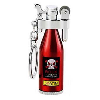 Bật lửa xăng đá Jobon hình chai rượu (Đỏ)